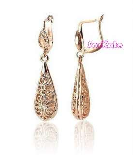 is for VINTAGE 18K ROSE GOLD GP PENDANTS TEARS SHAPED EARRINGS