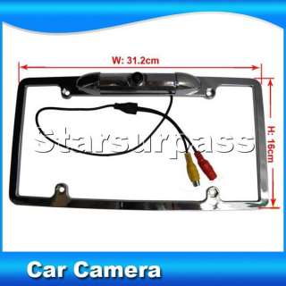 TFT LCD Car Reverse Rearview Color Mirror Monitor + License Plate